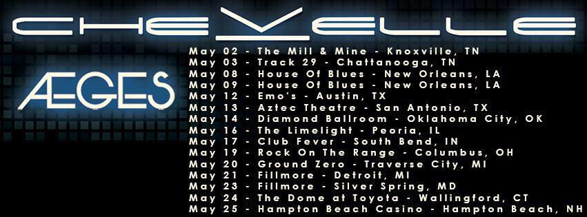 Aeges_Chevelle Tour Schedule