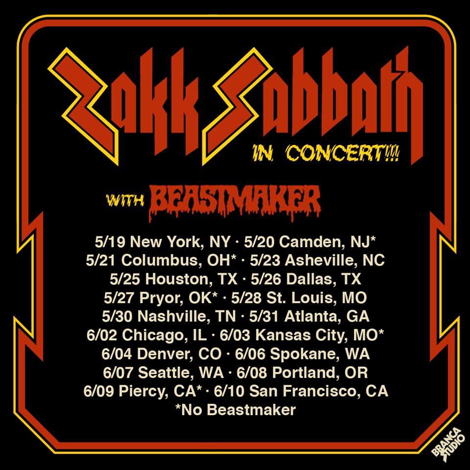 Zakk Sabbath Tour