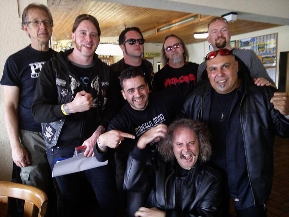 Keep It True Fest ( L-R: Greg Lindstrom, Markus Bart Grasseck, Jarvis Leatherby, Tim Baker, Bart Gabriel, Manalois Karazeris, Jim Barraza & Robert Garven)